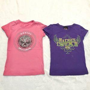 Harley Davidson shirts set kids girls size 5 / 6 S